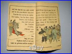 1886 Japanese Original Woodblock Print Crepe Book the Hare of Inaba