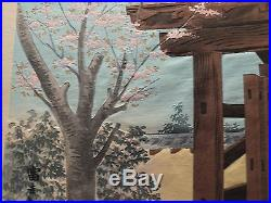 1940 Orig TOKURIKI TOMIKICHIRO Japanese Woodblock Print Fuji from Egawa House