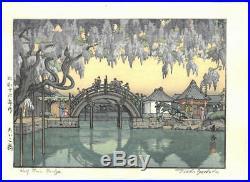 1941 JAPANESE Wood block Print OLD ORIGINAL Woodcut Japan Toshi Yoshida 505h