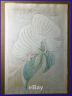 1954 Signed Japanese Woodblock FUJIO YOSHIDA (1887-1987) Ginger 11 x 16