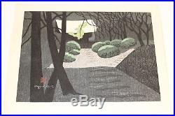 1972 Kiyoshi Saito 27/80 Japanese Woodblock Kamakura