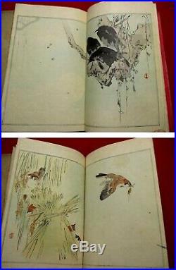 3-45 SEITEI bird GAFU Japanese Woodblock print 3 BOOK