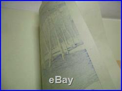 4-15 HASUI Kamikochi Ukiyoe Japanese Woodblock print