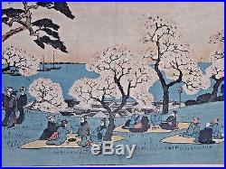 ANDO HIROSHIGE (1797-1858) Antique, Original, Signed Japanese Woodblock Print. 1930