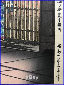 Antique Japanese Original woodblock print by Tsuchiya Koitsu 1935 with signature