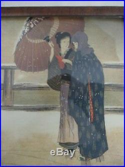 Antique Original Signed Japanese Woodblock Print