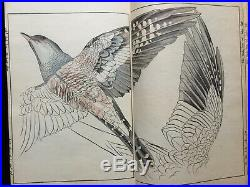 Atq SEIHO Zoological art collection of Bards Colored Woodblock print book Japan