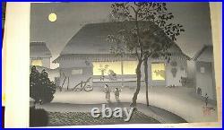 Bakufu Ohno Japanese woodblock autum moon