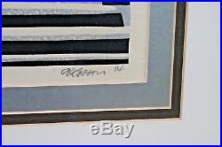 CLIFTON KARHU Woodblock Print Signed & Titled Nara Snow 1984 #5/100