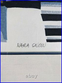 Clifton Karhu Signed Dated Framed Limited Edition Original Woodblock Nara Snow