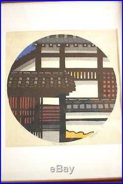 Clifton Karhu THE GATE 89 /100 1976 Original Japanese Woodblock Print framed