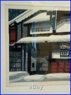 Clifton Karhu Woodblock Artist Proof Print KURAMA SNOW A/P #9 Signed Framed 1988