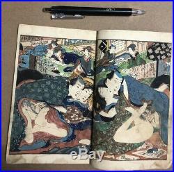 Edo Shunga Iroha Bunko Japanese Woodblock Print Book