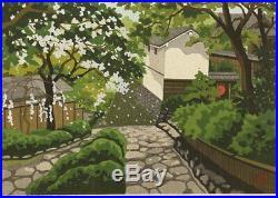 En1006jfEz8Japanese woodblock print Ido Masao Hase temple 1990 6/180