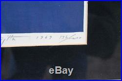 FUMIO FUJITA Japanese Signed Limited Edition Woodblock Print 1969 136/200