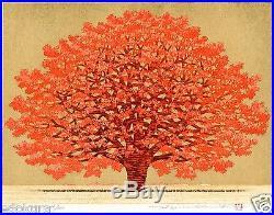 HAJIME NAMIKI JAPANESE Woodblock Print Tree Scene 140 Hand SIGNED by Pencil