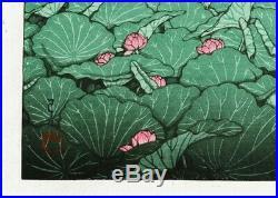 HASUI JAPANESE Woodblock Print SHIN HANGA Shiba Benten Pond