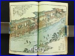 HIROSHIGE Japanese Woodblock Print Book EHON EDO MIYAGE Ukiyoe Landscapes 837