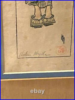 Helen Hyde (American 1868-1919) Japanese Woodblock Print Art Summer Girl
