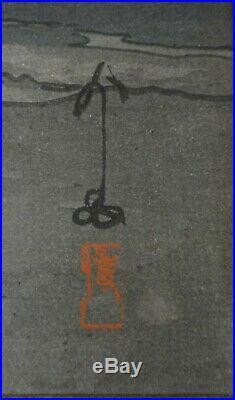 Hiroshi Yoshida Woodblock Mt. Fuji from Yoshida. Signed, 16 x 10 ½
