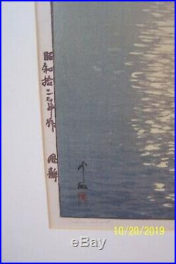 Hiroshi Yoshidaoriginalvint. Japanesewoodblock Printtitled Calm Wind1937