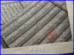 IDO MASAO Orig JAPANESE Woodblock Print NISHIJIN KYOTO- Hand Signed Limited Ed