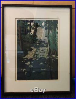 IDO MASAO woodblock print framed art rare Limited number Signed ukiyoe japanese
