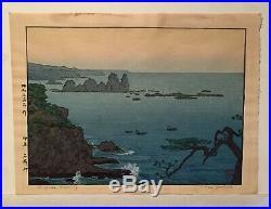 IROZAKI MORNING Orig. Vintage Japanese Woodblock Print by TOSHI YOSHIDA 1961