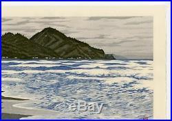 Imai Takehisa JAPANESE Woodblock Print HANGA Itagahama Bay Hand Signed