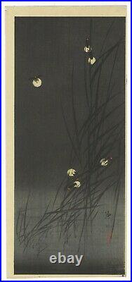 Ito Sozan, Fireflies, Design, Antique, Original Japanese Woodblock Print