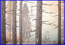 Ito Takashi 1952 Japanese Color Woodblock Mt. Fuji from Yamanaka