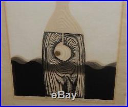 Iwami Reika Original Signed Limited Edition Japanese Abstract Woodblock