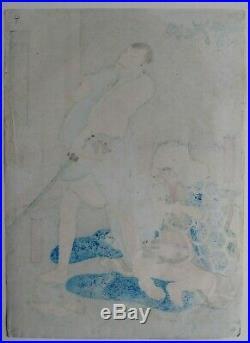JAPANESE WOODBLOCK PRINT 1859 Rare Osaka print Utagawa Hirosada