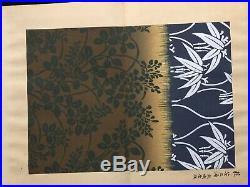 Japan Textile arts Woodcut Collection album Full color Woodblock print Book