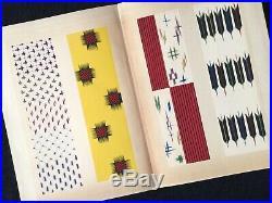 Japanese KIMONO Kasuri pattern Collection Woodblock print Book KAWARAZAKI SHODO