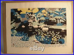 Japanese Modern Woodblock Print By Hide Kawanishi