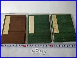 Japanese Shunga Paper picture on Book 3 set UKIYOE Erotic woodblock print-b924