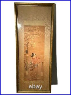 Japanese Toyoharu's Pillar Woodblock Print hashira-e, pillar picture