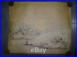 Japanese Woodblock Big Print by Okiie Hashimoto Signed 1967