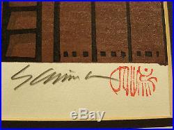 Japanese Woodblock Print Katsuyuki Nishijima TEA HOUSE 311/500 Signed