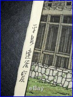 Japanese Woodblock by Kawase Hasui Tatsuya Kutsu in Hira Izumi c. 1936