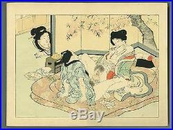Japanese woodblock print ORIGINAL SHUNGA Album 12 prints