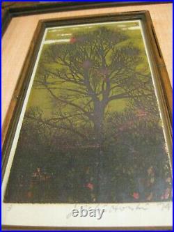 Joichi Hoshi Original Signed Evening, 1974, Japanese Woodblock Print