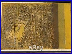 Junichiro Sekino 1963 Original 16/20 Japanese Woodblock Print Mid Century Modern