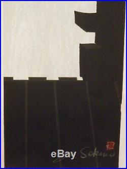 Junichiro Sekino old Listed Artist Fine Art Japanese WOODBLOCK artwork signed