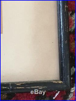 KAORU KAWANO -Mid Cent Mod Japanese Woodblock. Pencil Signed. Org Frame Vg Cond