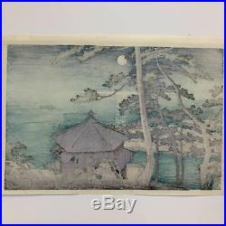 KAWASE HASUI Full Moon at Izura1952 Japanese woodblock print