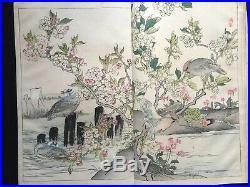 KONO BAIREI Flower Birds Full color woodcut album Woodblock print book JPN #1