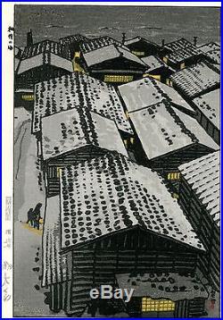 Kasamatsu Shiro JAPANESE Woodblock Print SHIN HANGA SEA AT ECHIGO
