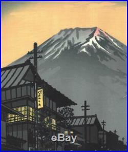 Kasamatsu Shiro SK11 Fuji Yoshida Japanese Woodblock print